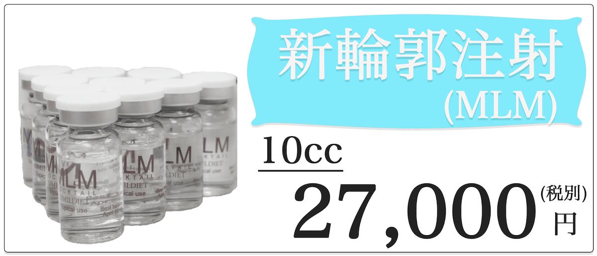 新輪郭注射(MLM)10cc 27,000円
